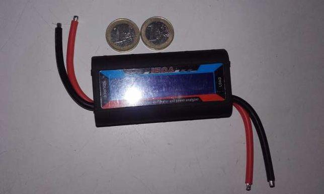 Medidor de Watts, Volts e Amperes de 150A alta precisão, ecrã c\ luz