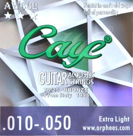 Caye 10-50 - struny do gitary akustycznej