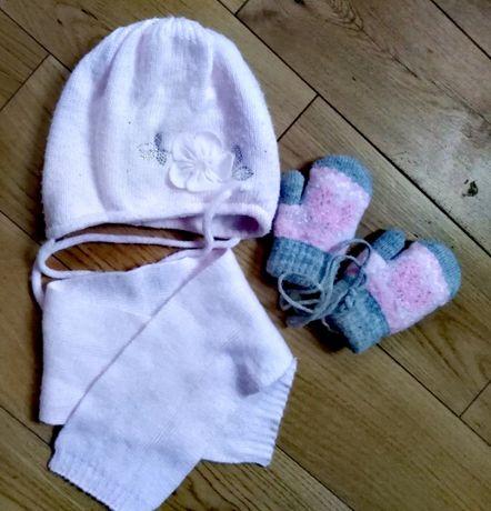 Komplet czapka szalik rękawiczki