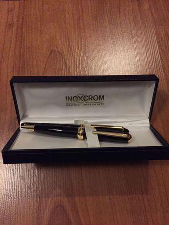 Canetas INOXCROM 2 unid. com banho de ouro (novas)