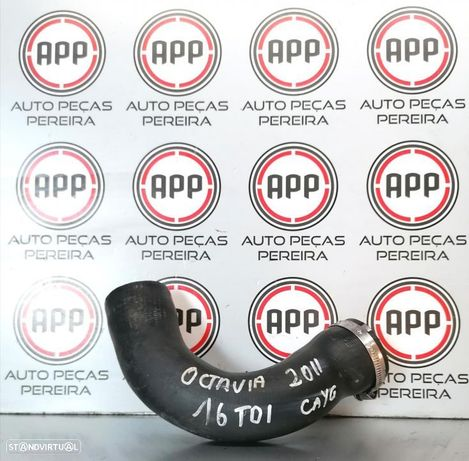 Tubo de intercooler Skoda Octavia, Golf 6, Leon 1P, A3 8P 1.6 TDI, ref 1K0145834AT