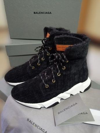 Женские кроссовки Balenciaga, утеплённые, осень/зима, оригинал.