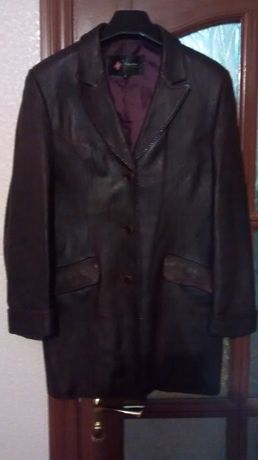 Пиджак (куртка) нат.кожаный
