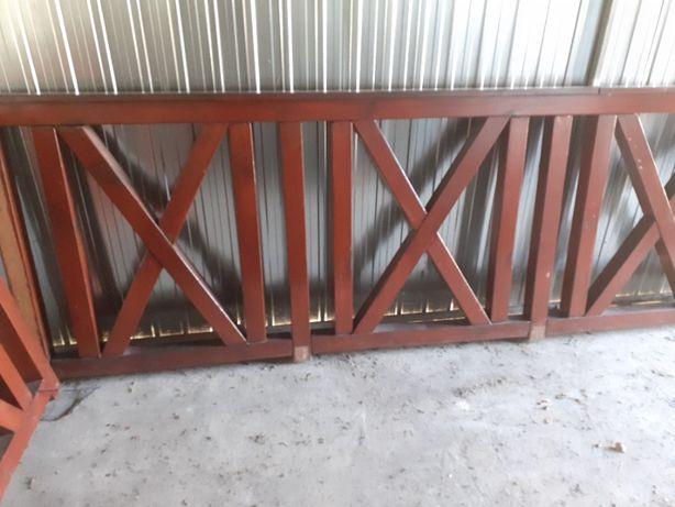 Balustrada balkonowa drewniana cena za całość