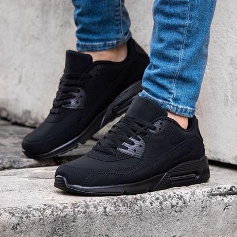 Мужские черные кроссовки, все размеры в наличии, Без предоплаты. Днепр
