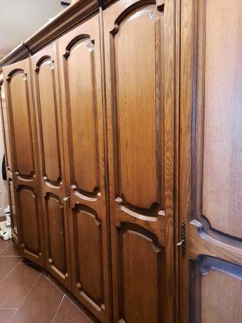 Dębowa szafa 6cio drzwiowa
