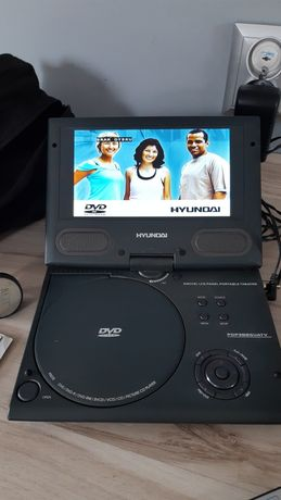 Hyundai przenośny Telewizor/Odtwarzacz DVD/DivX do samochodu-JAK NOWY!