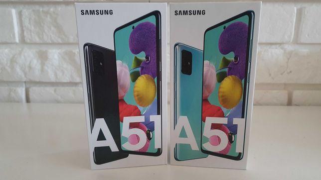 Nowy Samsung A51 kolor niebieski i czarny pudełko nie otwierane