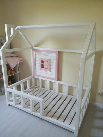 Drewniane Łóżko Domek 160x80