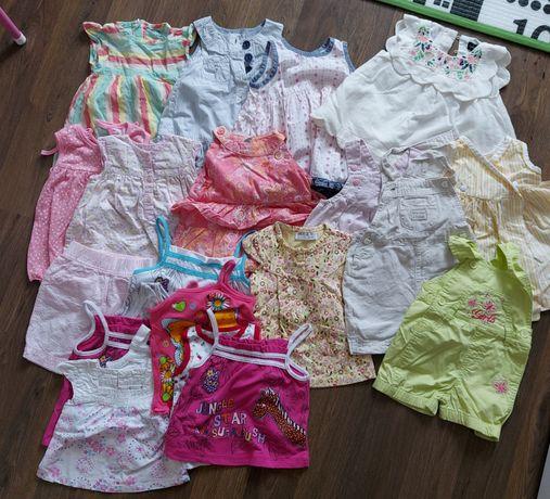 Letnie ubrania 68 74