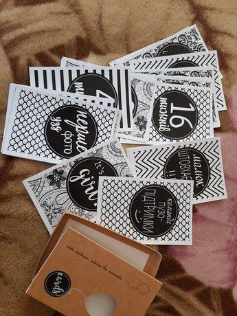 Карточки, картки для фотосессии беременных, вагiтних