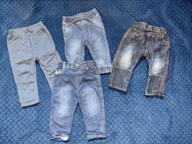 Spodnie, jeansy dla chłopca 6-9mcy