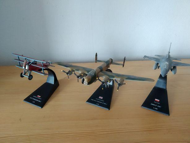 Samoloty wojskowe modele Fokker DR.1  Avro Lancaster F-16