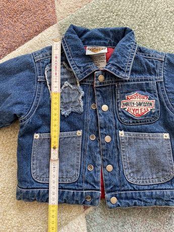 Kurtka jeansowa 18m (80/86) stan bdb