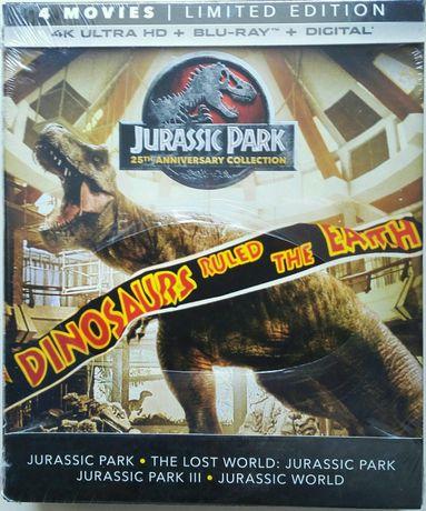 """Jurassic Park Collection"" 4K UHD + Blu-Ray USA bez PL"