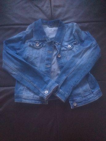Kurtka jeansowa, dziewczęca.