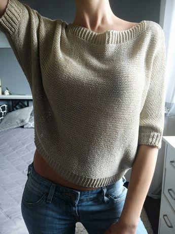 Beżowa bluzka- sweterek