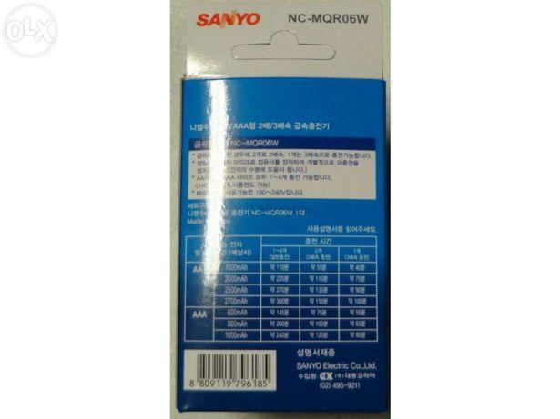 Carregador pilhas AA AAA Sanyo NC-MQR06W