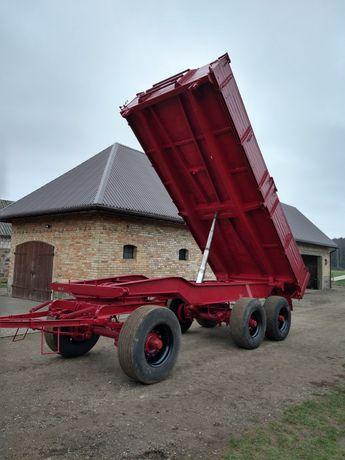 Przyczepa rolnicza wywrotka trzystronna 18 ton ladownosci