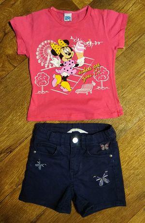 Классный комплект шорты футболка на девочку 3-4 года