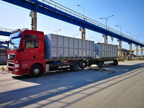 Transport kontenerów hakowych. Hakowiec kontener , transport odpadów