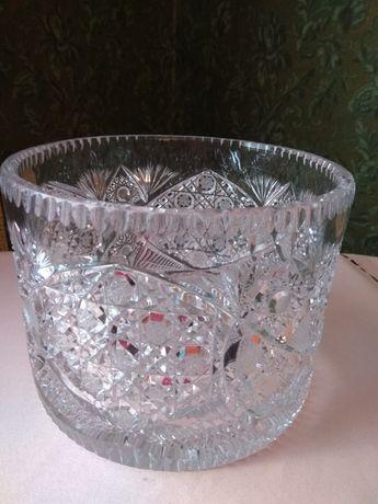 Большая хрустальная ваза ГДР
