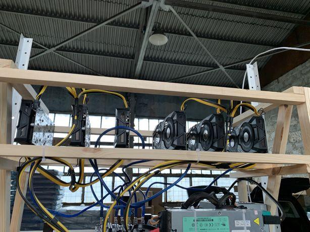Майнинг Ферма RX580 8GB 6 штук