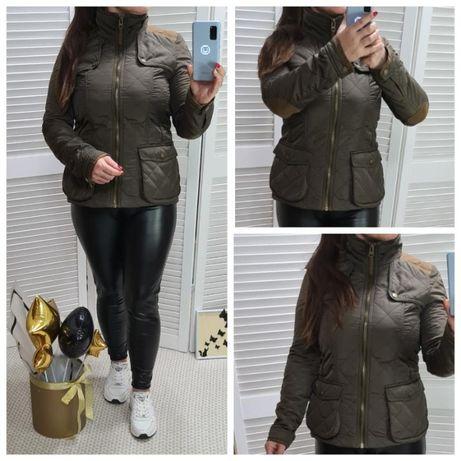 короткая куртка Zara, стеганная, утепленная, р. 46-48