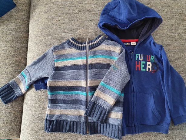 Sweterek i bluza chlopieca