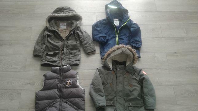 3 kurtki i ocieplacz chłopiec 104-110
