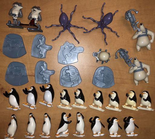 Kinder niespodzianka figurki z bajki Pingwiny