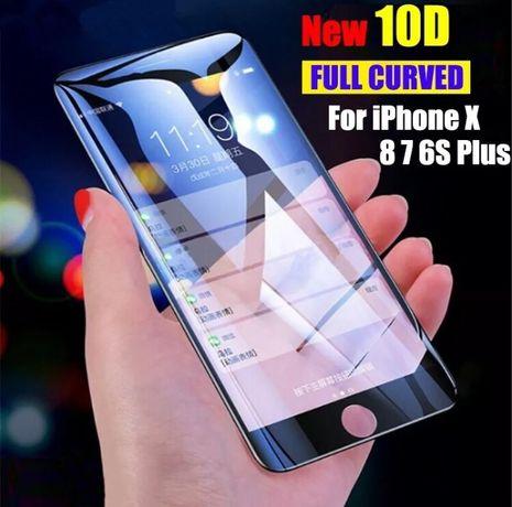 Protector ecrã frente, completo iPhone 6 Plus, branco novo