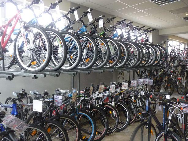 Stojak ekspozytor na 32 sztuki rowerów