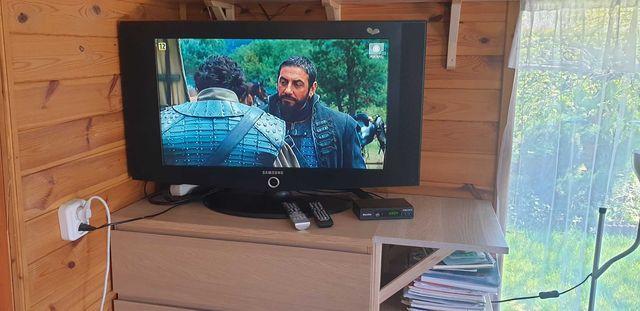 TV Samsung 32 cale LCD, dekoder dvbt-2, odtwarzacz DVD