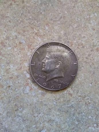moneta srebrna Kennedy 1967
