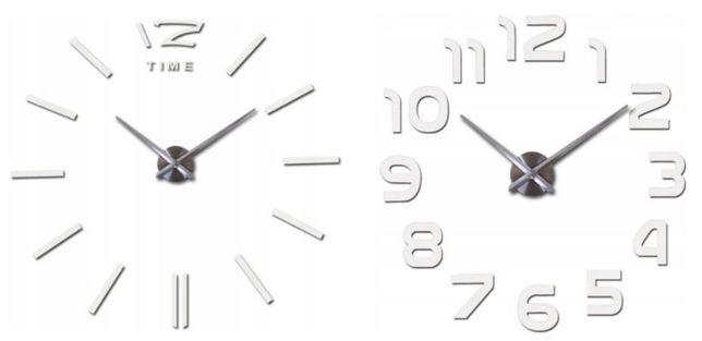 Nowoczesny Zegar ścienny DIY LUSTRO 3D Duży i elegancki Kreski WZORY