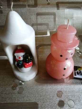 Świąteczne -zimowe świece