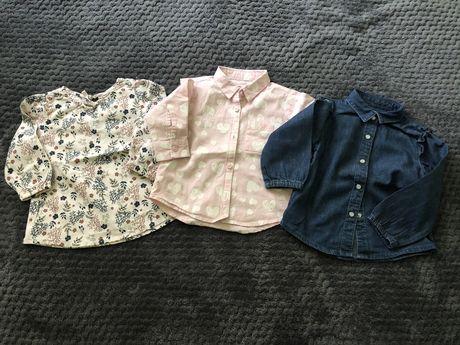 Bluzeczki niemowlece koszulki koszule 74 SINSAY