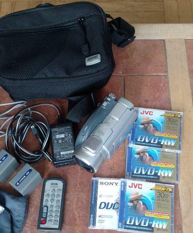 Kamera Sony DCR-DVD 405 4x DWD RW, Lampa HVL-HL1, stan idealny