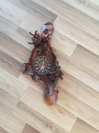 Zegar skórzany ścienny