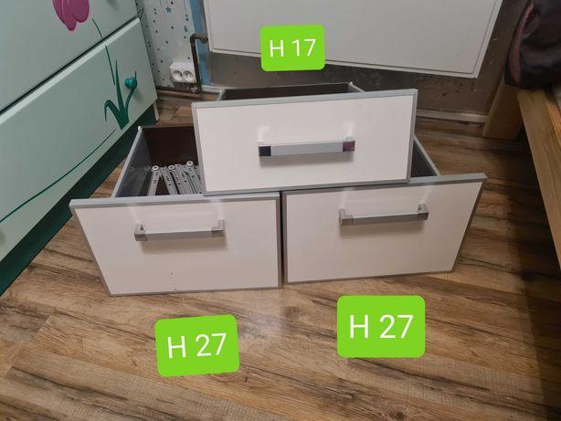 Komplet szuflad w połysku