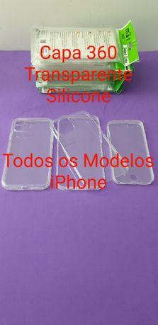 Capa 360 Transparente Silicone iPhone ( TODOS OS MODELOS )