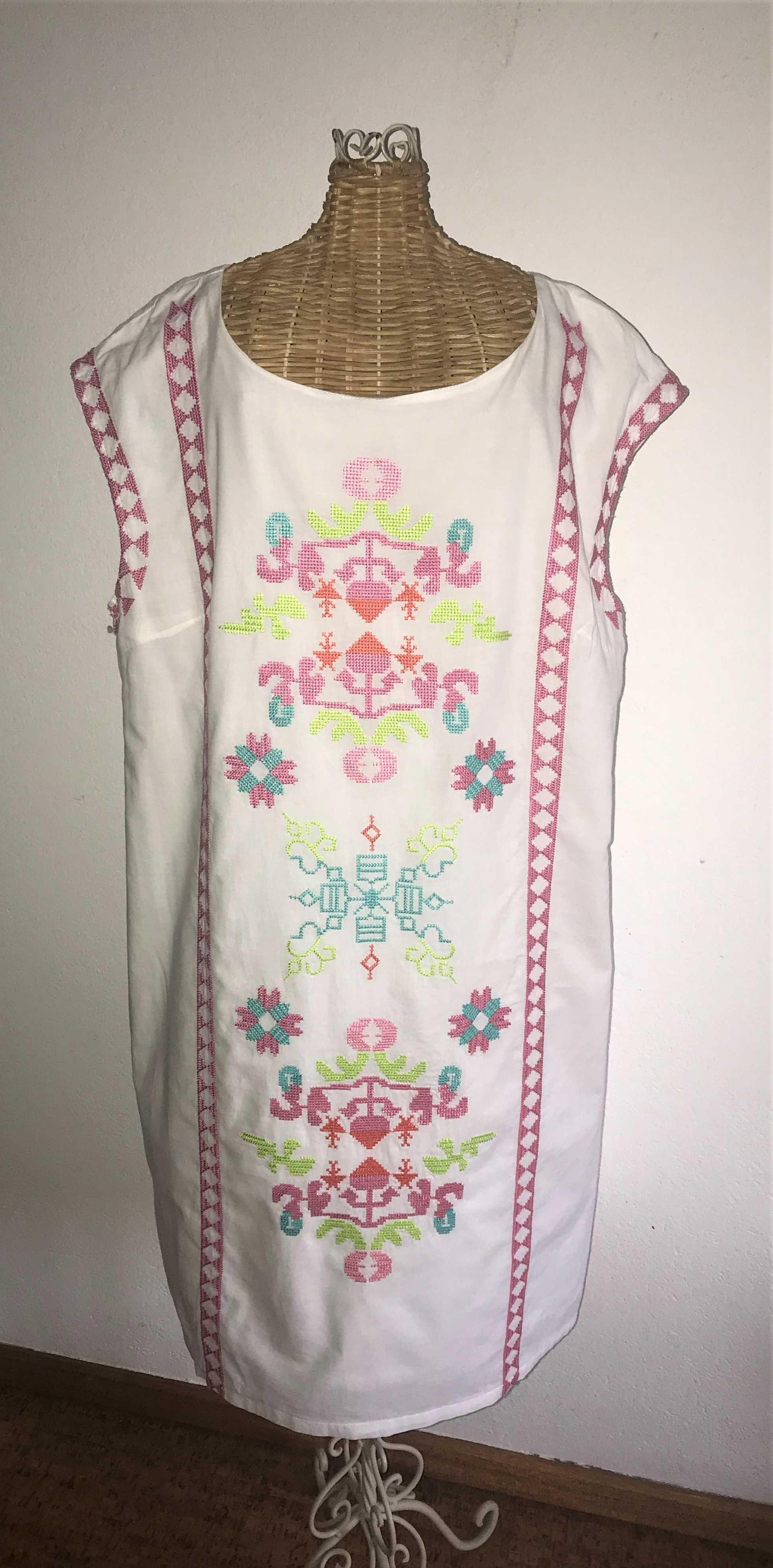 Vestido Bordado Anany Branco Forrado