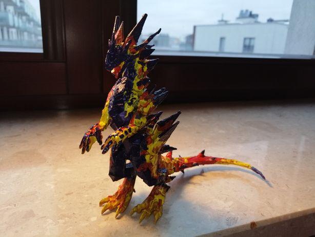 Heroes V druk 3D magmowy smok ręcznie malowany figurka z gry