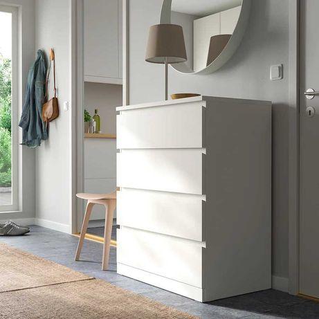 Cómoda c/4 gavetas, branco80x100 cm MALM IKEA