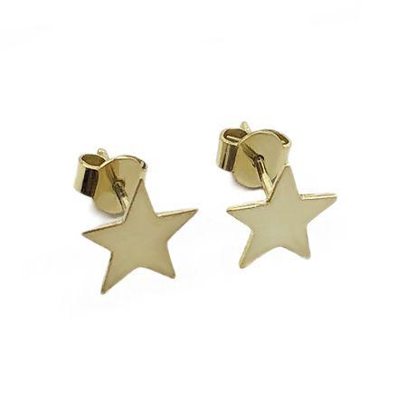 Złote kolczyki pr. 585 gwiazdki na sztyft