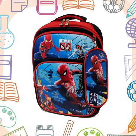 Хит сезона Детский рюкзак ранец школьный человек паук пенал в подарок