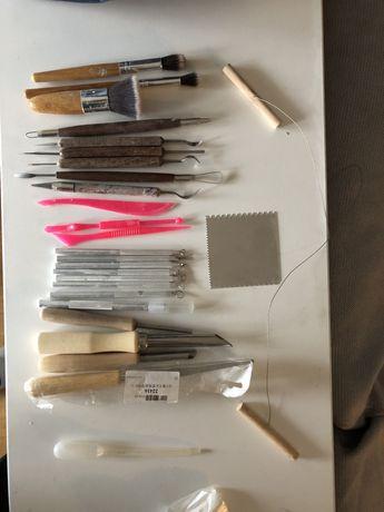 Komplet narzędzi do ceramiki + szkliwa