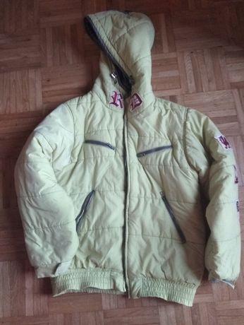 zielona kurtka zimowa, kolekcja Wójcik - 152cm