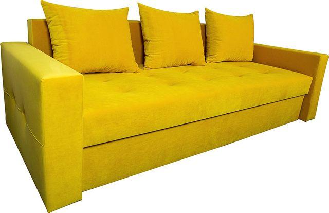 Żółta 3 osobowa Sofa rozkładana z funkcją spania łóżko kanapa VELVET